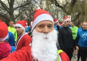 Nikolaus beim Spendenlauf
