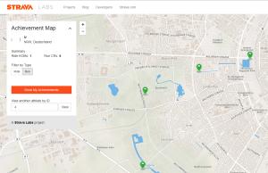 Karte der Rekorde - Quelle: http://labs.strava.com/achievement-map